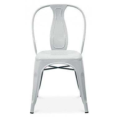 Design Lab MN Side Chair (Set of 4); Glossy Silver