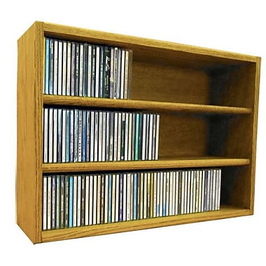 Wood Shed Multimedia Storage Rack; 18.75'' H x 26.87'' W x 6.75'' D