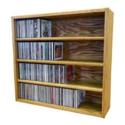 Wood Shed Multimedia Storage Rack; 24.75'' H x 26.87'' W x 6.75'' D
