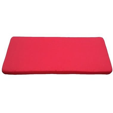 SRCreations Clingo Outdoor Bench Cushion; Red