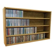 Wood Shed Multimedia Storage Rack; 24.75'' H x 39.43'' W x 6.75'' D
