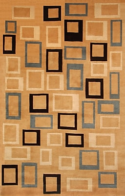 Abacasa Aspen Hand-Knotted Brown Area Rug