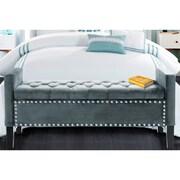 Iconic Home Lance Upholstered Storage Bench; Slate Blue