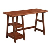 Convenience Concepts Inc. Trestle Desk Home Office Trestle Cherry