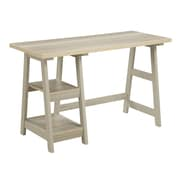 Convenience Concepts Inc. Trestle Desk Home Office Trestle Weathered White