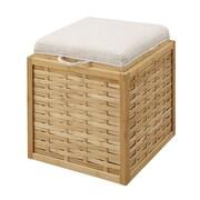 Convenience Concepts Inc. Designs4Comfort Ottomans Linen Ottoman Bamboo Weave (143630W)