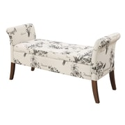 Convenience Concepts Inc. Designs4Comfort Ottomans/Garbo Collection Ottoman Botanical Fabric (143634FBT)