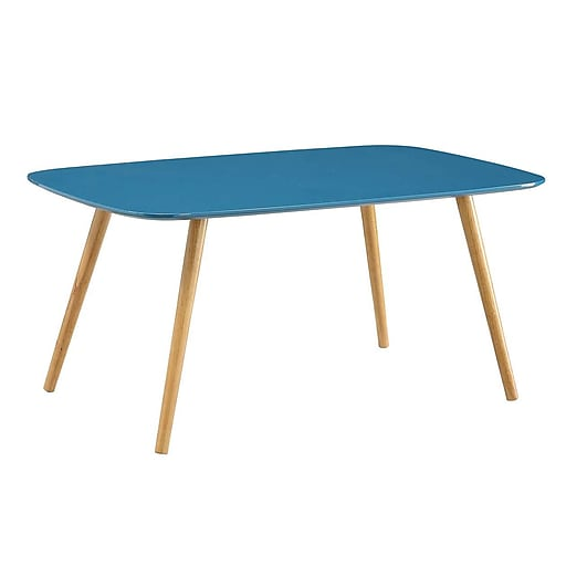 Convenience Concepts Inc. Oslo Bamboo Coffee Table, Blue, Each (203583BE)