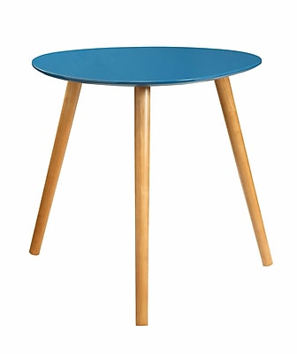 Convenience Concepts Inc. Oslo Bamboo End Table, Blue, Each (203585BE)