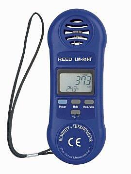 REED LM-81HT Thermo-Hygrometer, 10/95%Rh, 32/122degF, -0/50degC
