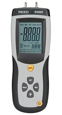 REED R3002 Digital Manometer, Gauge / Differential, 5psi