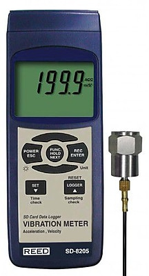 REED SD-8205 SD Series Vibration Meter, Datalogger