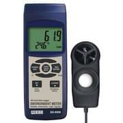 REED SD-9300 SD Series Environmental Meter, Datalogger (Air Velocity/Temp, Light, Ambient Temperature, Humidity)