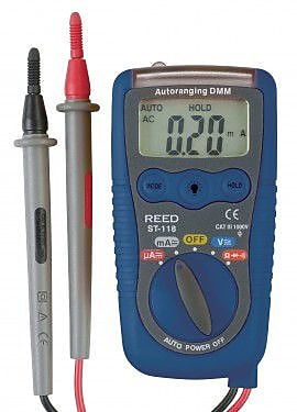 REED ST-118 Multimeter with NCV and Flashlight, 3-in-1
