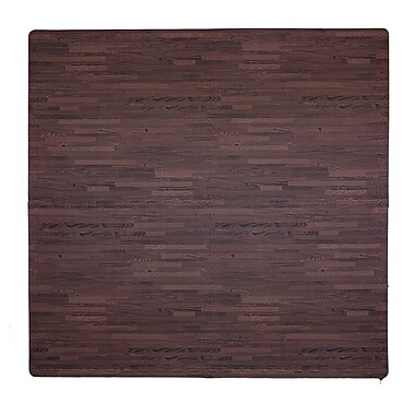 Tadpoles 4 Piece Wood Grain Playmat; Cherry
