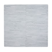 Tadpoles 4 Piece Wood Grain Playmat; Grey