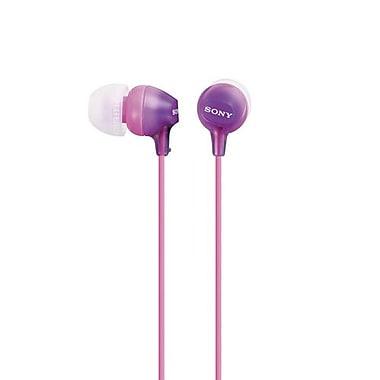 Sony - Écouteurs intra-auriculaires de série EX15 couleurs mode, violet (MDREX15LP/V)