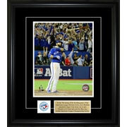 "Frameworth Jose Bautista Photo with Pin/Plate, Bat Flip Homerun, 8""x10"""