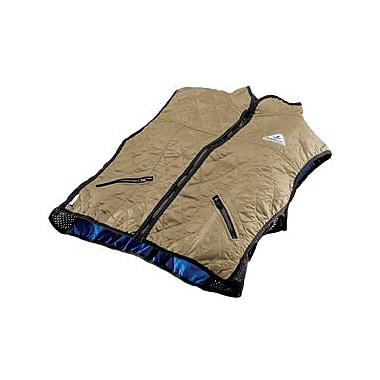 TechNiche HyperKewlMC – Veste de sport de luxe à refroidissement par évaporation d'eau pour femme, kaki, grand (6530F KH L)