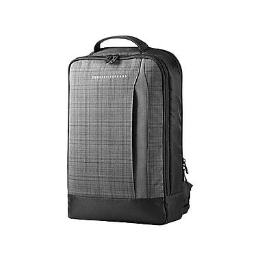 HP Slim Ultrabook Backpack, Twill, Black & Gray, (F3W16AA)