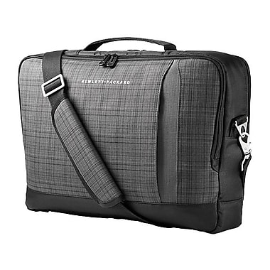 HP Slim Ultrabook Top Load Case, Twill, Black & Gray, (F3W15AA)