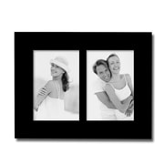 AdecoTrading 2 Opening Decorative Picture Frame; Black