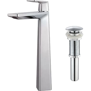 Kraus Single Hole Single Handle Bathroom Faucet; Chrome