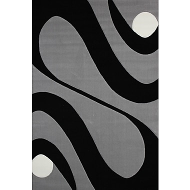 Rug Factory Plus Geo Hand-Tufted Gray Area Rug