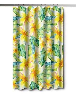 Island Girl Home Tropical Plumeria Shower Curtain