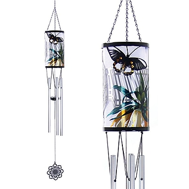 Exhart Solar New York Botanical Gardens Laser Cut Butterfly Wind Chime