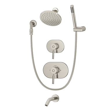 Symmons Sereno Pressure Balance Tub and Shower System w/ Lever Handle