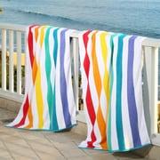 Laguna Beach Towel Company Plush Rainbow Beach Towel (Set of 2)