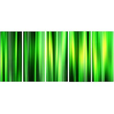 DesignArt Metal 'Abstract Bamboo' 5 Piece Graphic Art Set