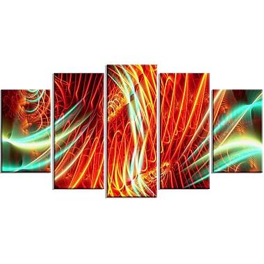 DesignArt Metal 'Light Show Abstract' 5 Piece Graphic Art Set