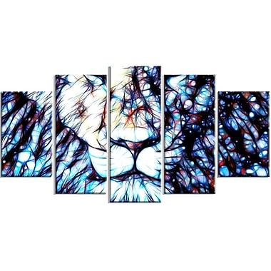 DesignArt Metal 'Leader of the Pack Lion' 5 Piece Graphic Art Set