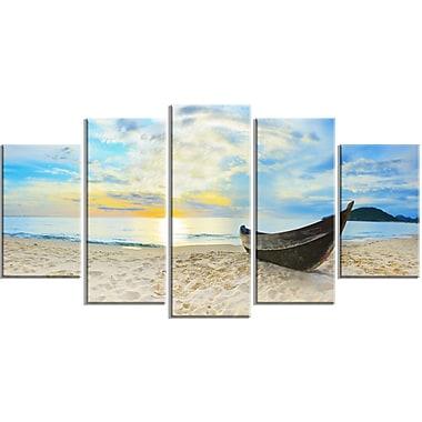 DesignArt Metal 'Calm Beach Panorama Photo' 5 Piece Photographic Print Set