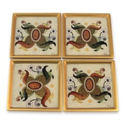 Novica Edmundo Contreras Colonial Sand Glass Coaster (Set of 4)