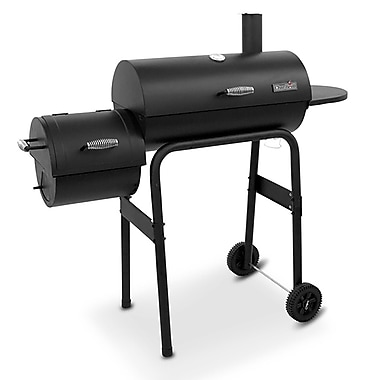 CharBroil 22'' 300 Series American Gourmet Offset Charcoal Grill w/ Smoker