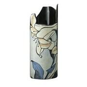 Dartington Silhouette de Art Katsushita Hokusai Lilies Porcelain Vase