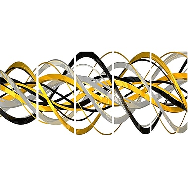 DesignArt Metal 'Helix Expression Abstract' 5 Piece Graphic Art Set
