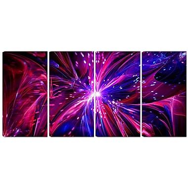 DesignArt Metal 'Pink/Purple Dreams Come True' 4 Piece Graphic Art Set