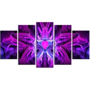 DesignArt Metal 'Heart at the Center Purple Abstract' 5 Piece Graphic Art set
