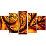 DesignArt Metal 'Golden Leaf' Graphic Art