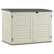 Suncast 5 ft. 11 in. W x 3 ft. 8 in. D Plastic Horizontal Garbage Shed
