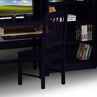 Wildon Home Hudson Mid-Back Office Chair; Navy