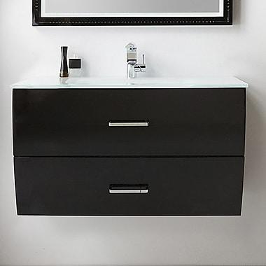 Fresca 40'' Single Bathroom Vanity Set; Black