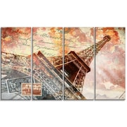 DesignArt Metal 'Eiffel Tower Paris' Graphic Art