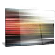 DesignArt Metal 'Horizontal Lights' Graphic Art; 28'' H x 36'' W
