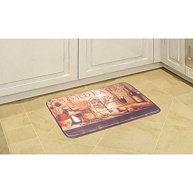 Daniels Bath Pasta Bourdeaux Kitchen Mat