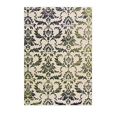 Art Carpet Bastille Green Area Rug; Round 5'
